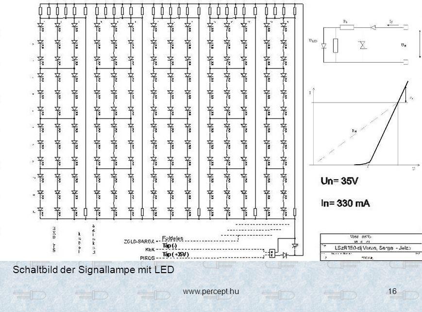 Schaltbild der Signallampe mit LED