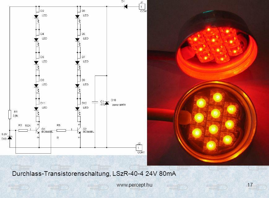 Durchlass-Transistorenschaltung, LSzR-40-4 24V 80mA