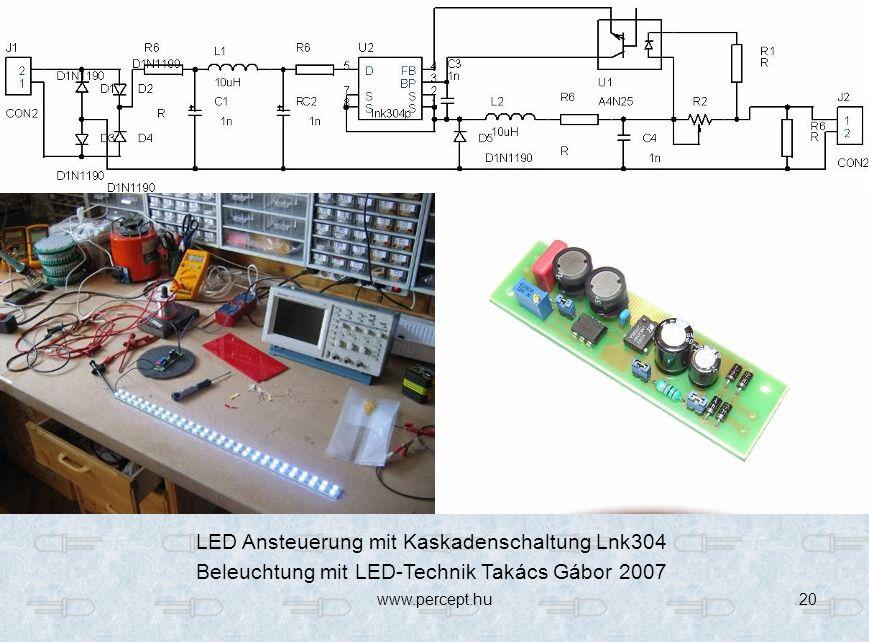 LED Ansteuerung mit Kaskadenschaltung Lnk304