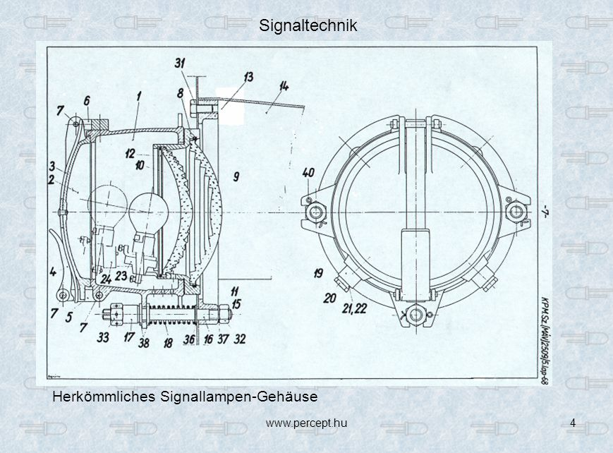 Signaltechnik Herkömmliches Signallampen-Gehäuse www.percept.hu