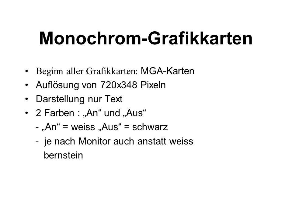Monochrom-Grafikkarten