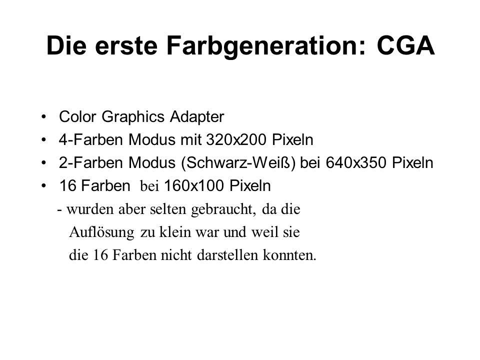 Die erste Farbgeneration: CGA