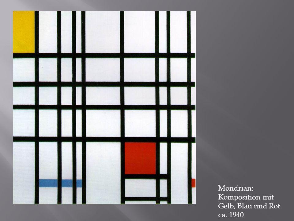 Mondrian: Komposition mit Gelb, Blau und Rot ca. 1940