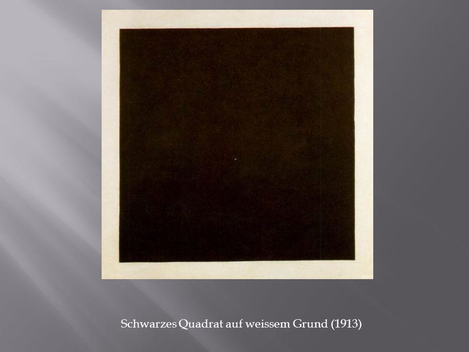 Schwarzes Quadrat auf weissem Grund (1913)