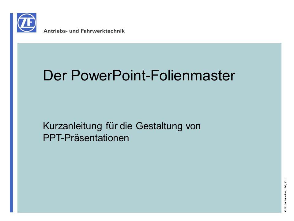 Der PowerPoint-Folienmaster