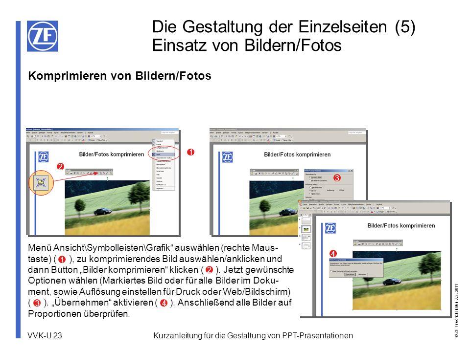 Die Gestaltung der Einzelseiten (5) Einsatz von Bildern/Fotos