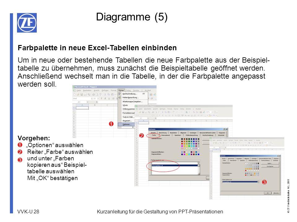 Diagramme (5) Farbpalette in neue Excel-Tabellen einbinden