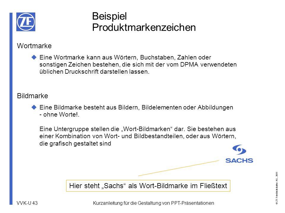 Beispiel Produktmarkenzeichen