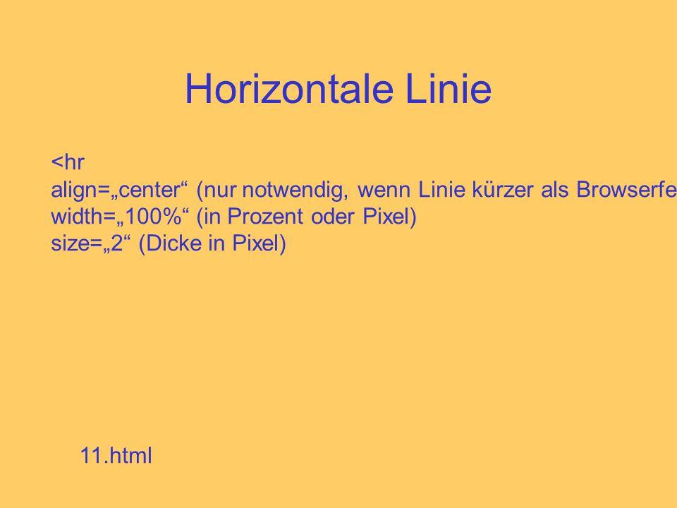 Horizontale Linie <hr