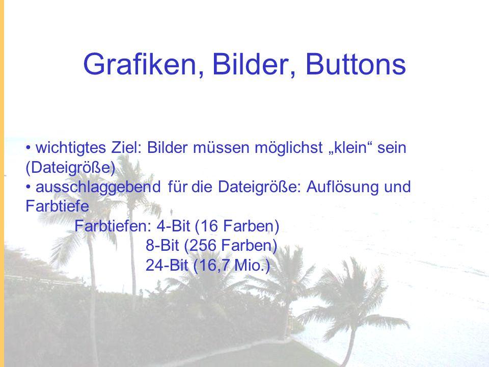 Grafiken, Bilder, Buttons