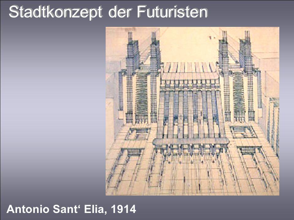 Stadtkonzept der Futuristen