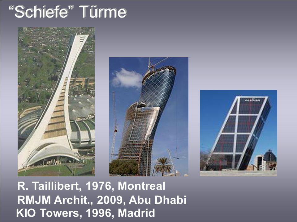 Schiefe Türme R. Taillibert, 1976, Montreal