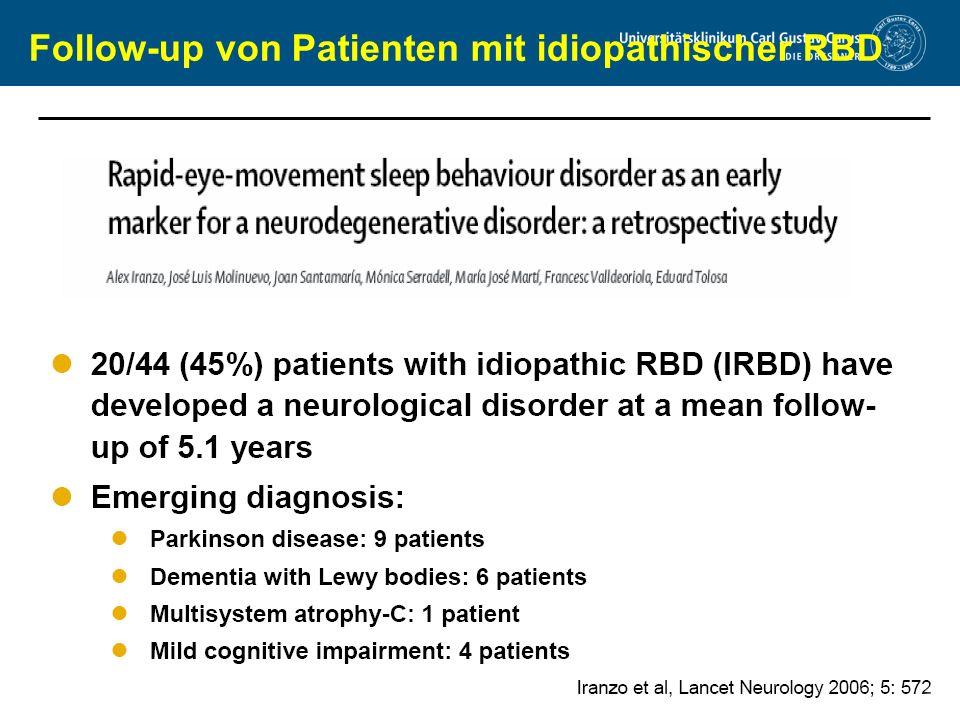 Follow-up von Patienten mit idiopathischer RBD
