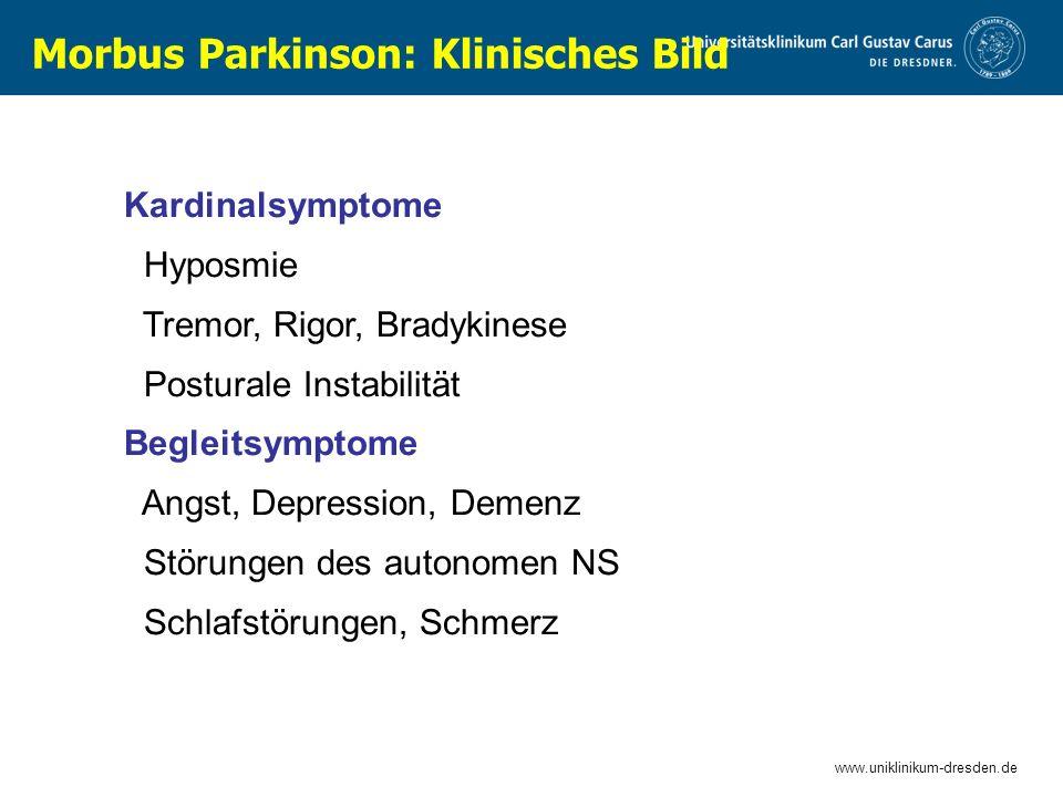 Morbus Parkinson: Klinisches Bild