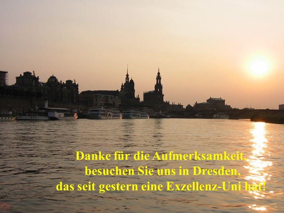 Danke für die Aufmerksamkeit, besuchen Sie uns in Dresden,