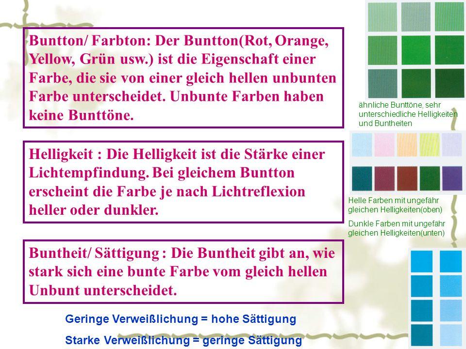 Buntton/ Farbton: Der Buntton(Rot, Orange, Yellow, Grün usw