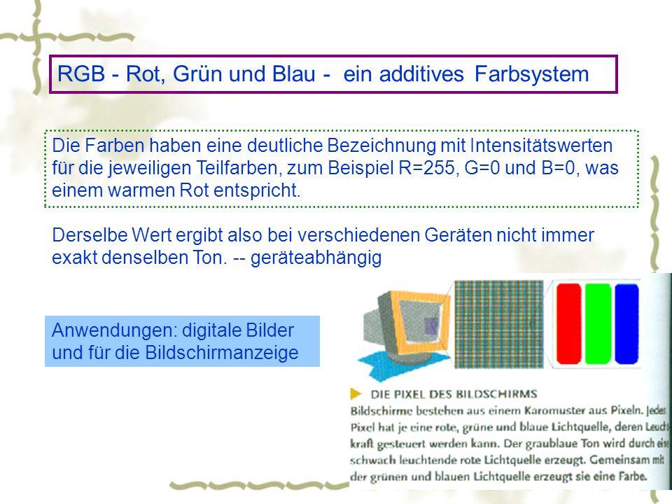 RGB - Rot, Grün und Blau - ein additives Farbsystem