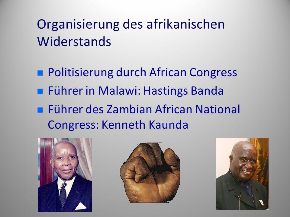 Organisierung des afrikanischen Widerstands