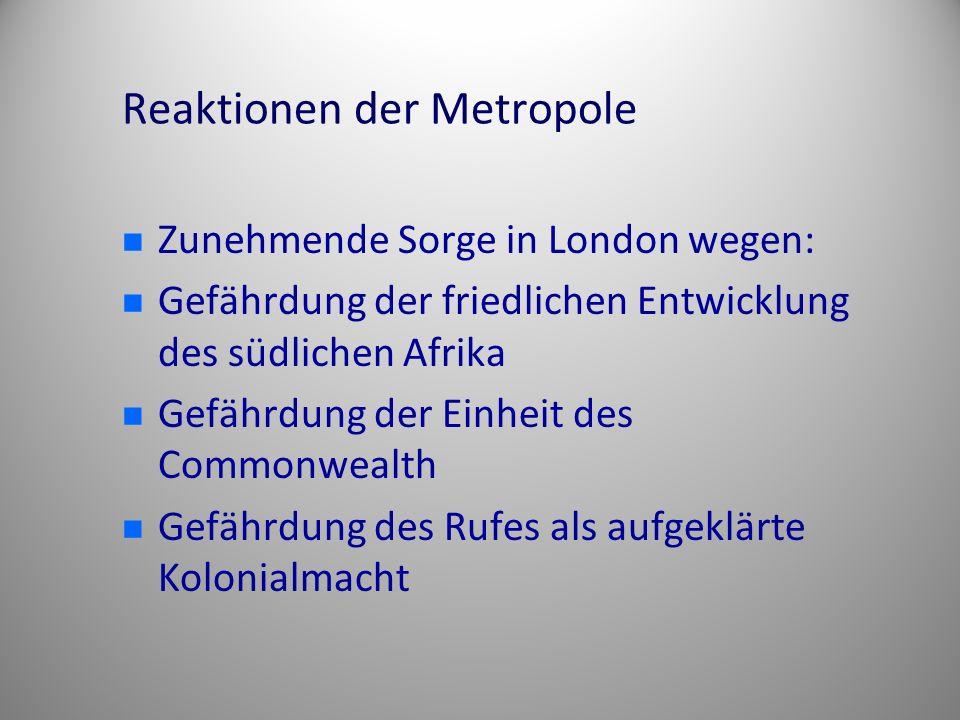 Reaktionen der Metropole