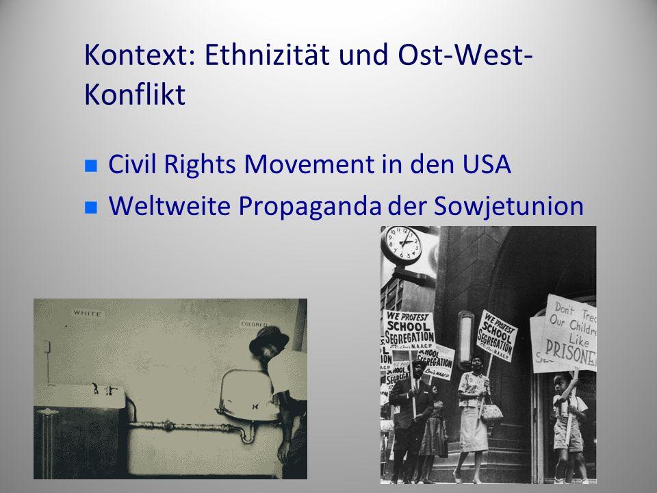 Kontext: Ethnizität und Ost-West-Konflikt