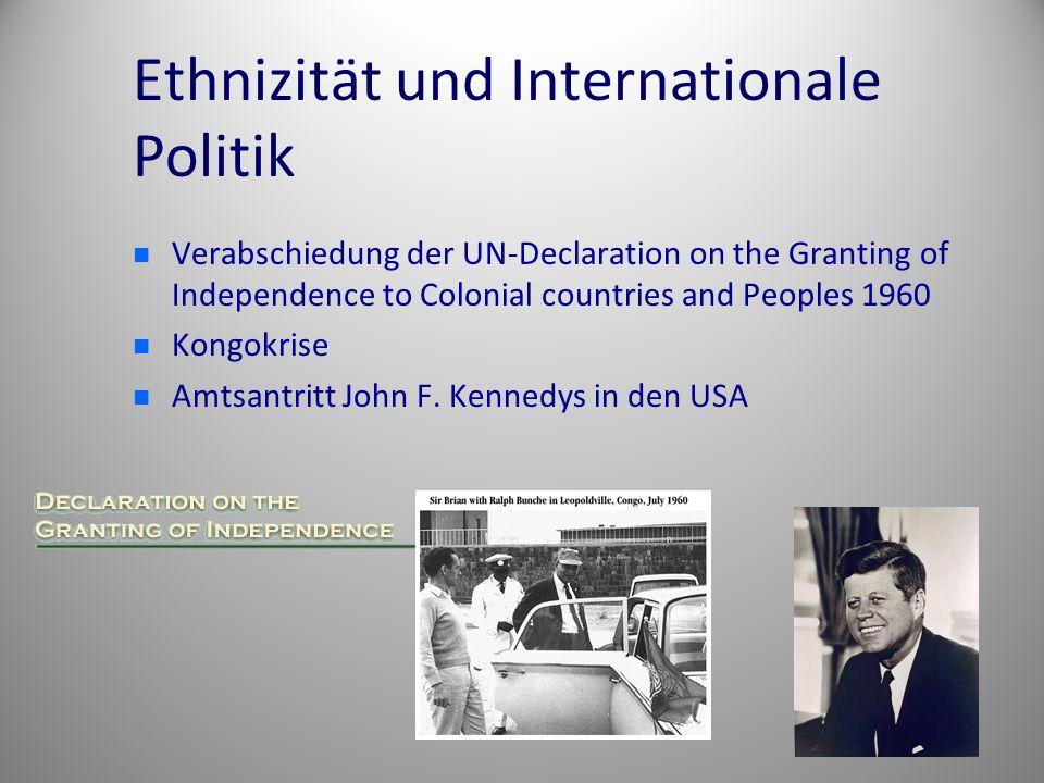 Ethnizität und Internationale Politik