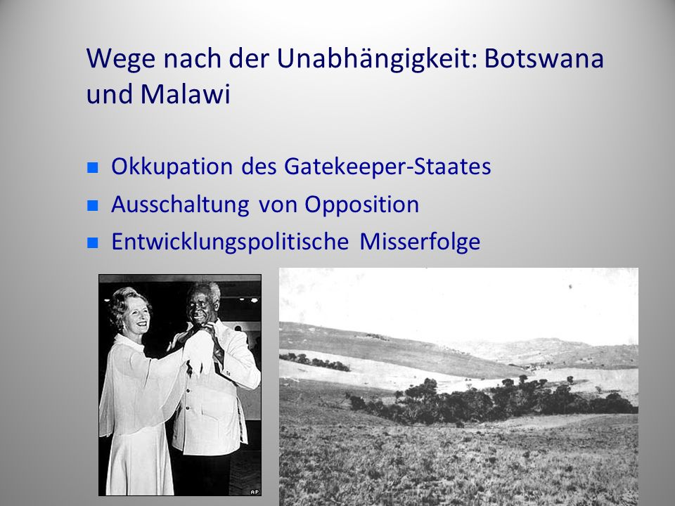 Wege nach der Unabhängigkeit: Botswana und Malawi