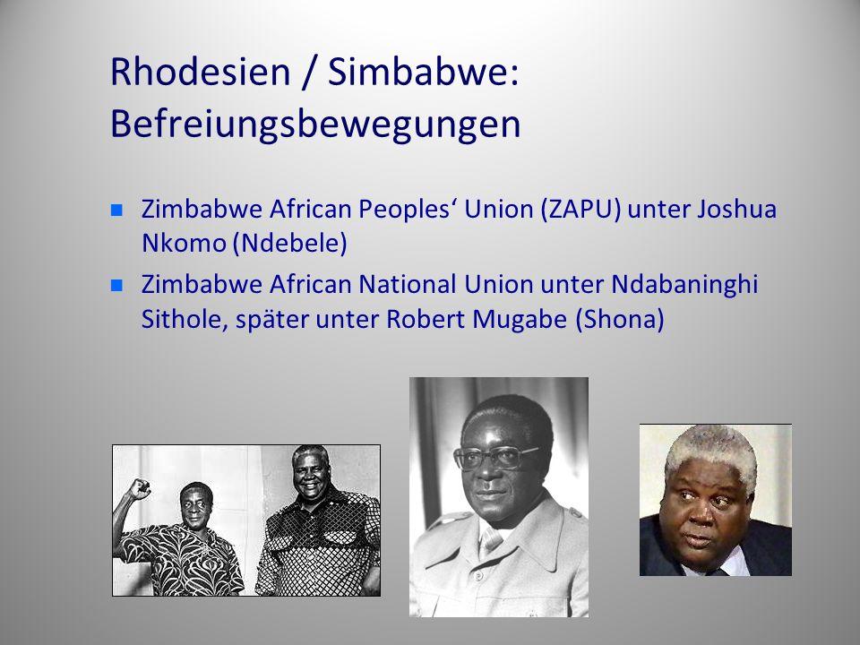 Rhodesien / Simbabwe: Befreiungsbewegungen