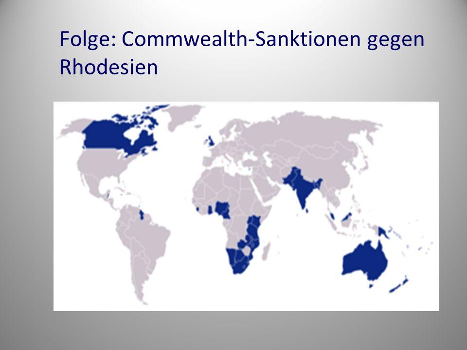 Folge: Commwealth-Sanktionen gegen Rhodesien