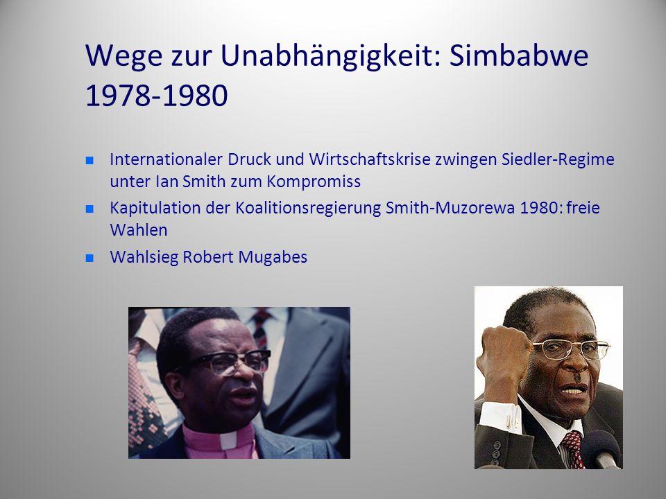 Wege zur Unabhängigkeit: Simbabwe 1978-1980