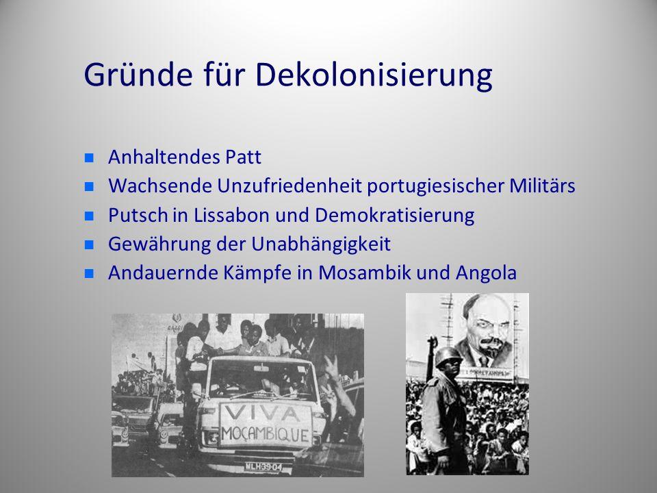 Gründe für Dekolonisierung
