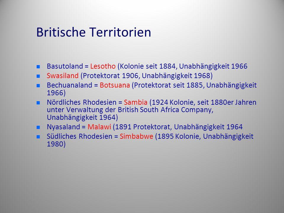 Britische Territorien