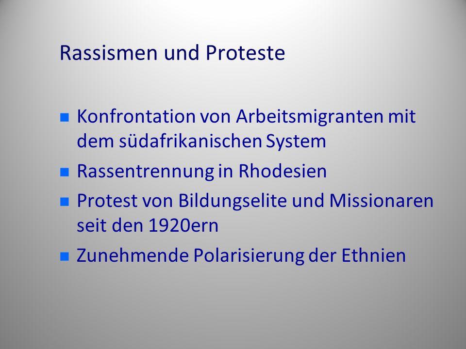 Rassismen und Proteste