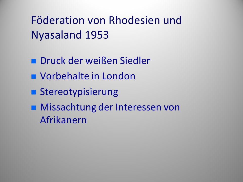 Föderation von Rhodesien und Nyasaland 1953