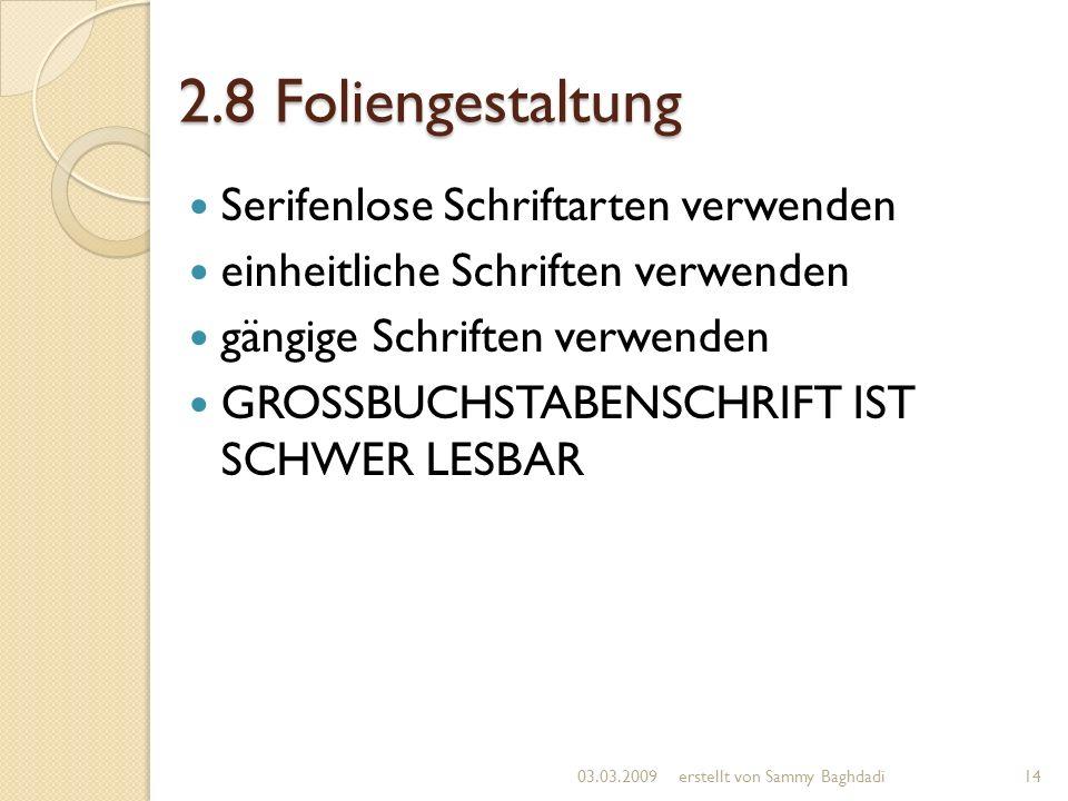 2.8 Foliengestaltung Serifenlose Schriftarten verwenden