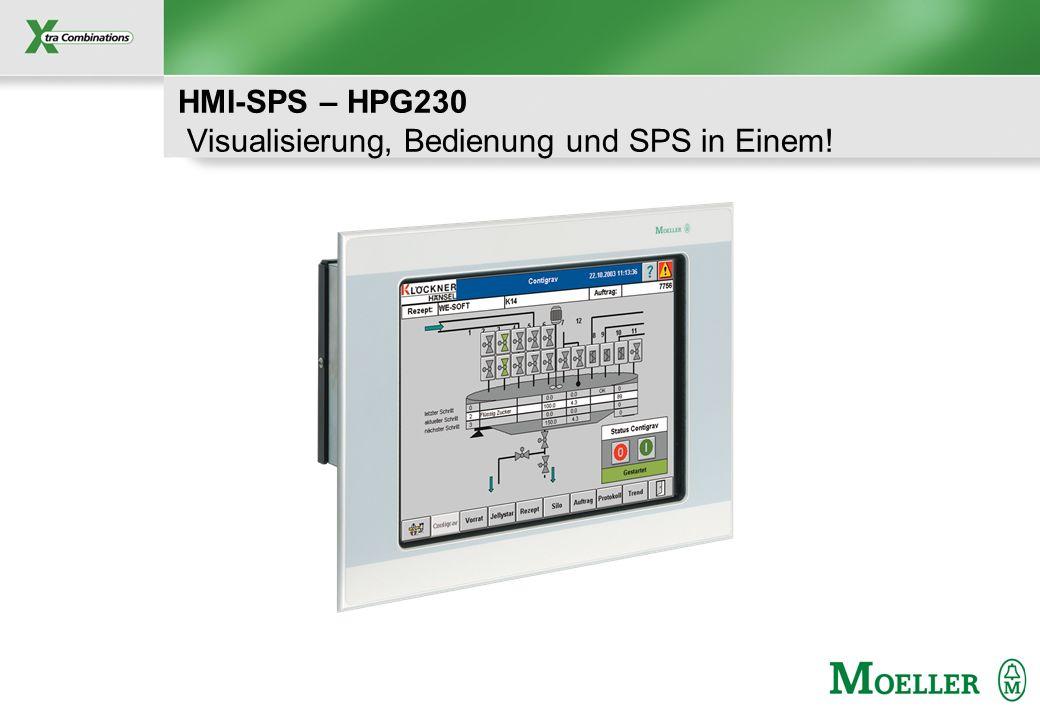 HMI-SPS – HPG230 Visualisierung, Bedienung und SPS in Einem!