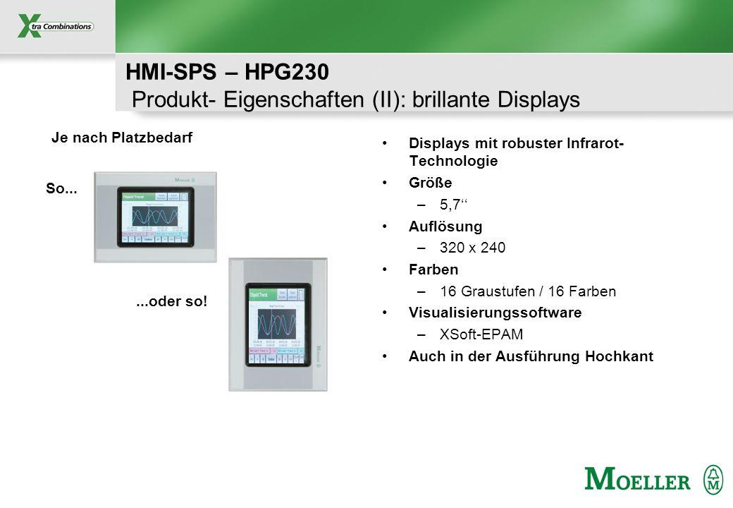 HMI-SPS – HPG230 Produkt- Eigenschaften (II): brillante Displays