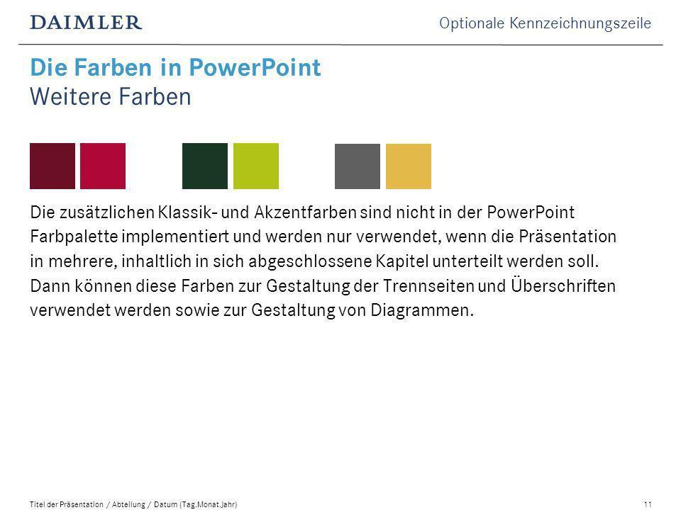 Die Farben in PowerPoint Weitere Farben