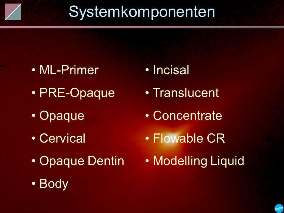 Systemkomponenten ML-Primer PRE-Opaque Opaque Cervical Opaque Dentin