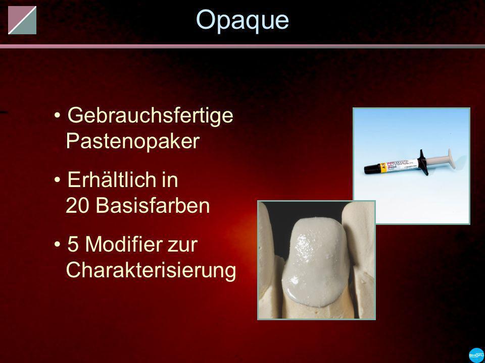 Opaque Gebrauchsfertige Pastenopaker Erhältlich in 20 Basisfarben