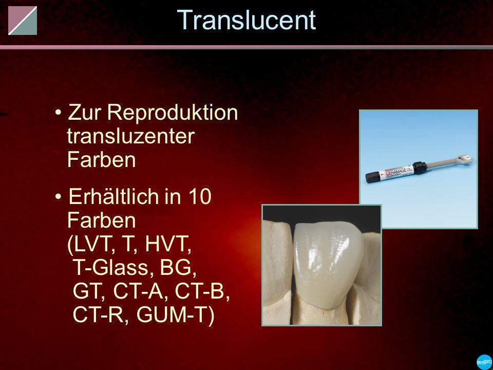 Translucent Zur Reproduktion transluzenter Farben