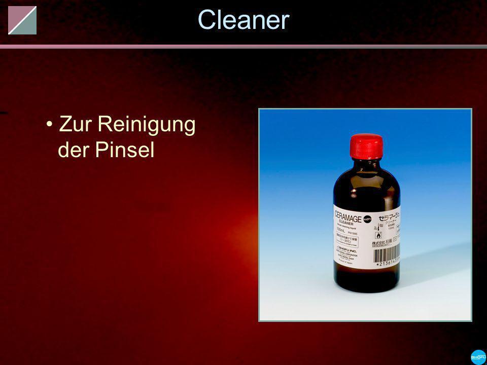 Cleaner Zur Reinigung der Pinsel