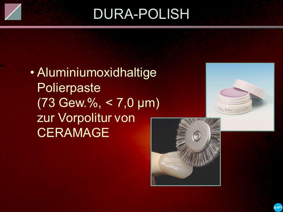 DURA-POLISH Aluminiumoxidhaltige Polierpaste (73 Gew.%, < 7,0 µm) zur Vorpolitur von CERAMAGE.