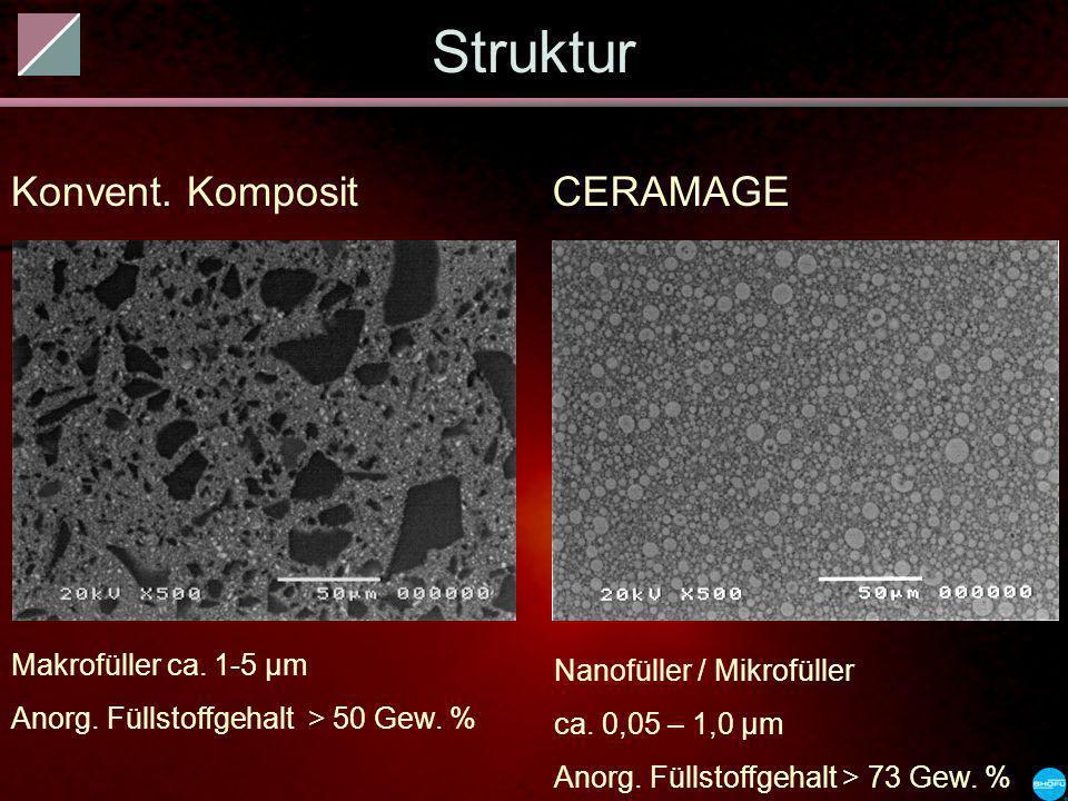 Struktur Konvent. Komposit CERAMAGE Makrofüller ca. 1-5 µm