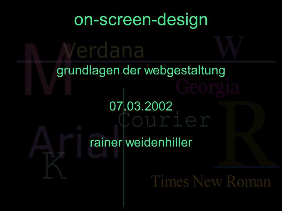 grundlagen der webgestaltung