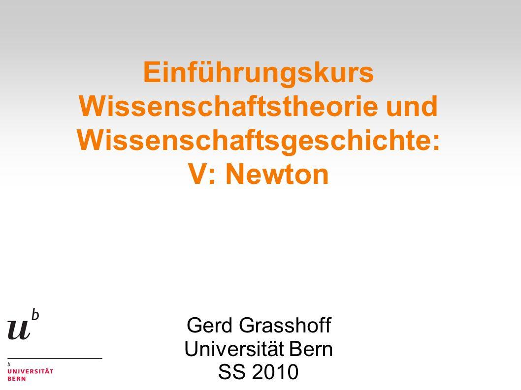 Gerd Grasshoff Universität Bern SS 2010