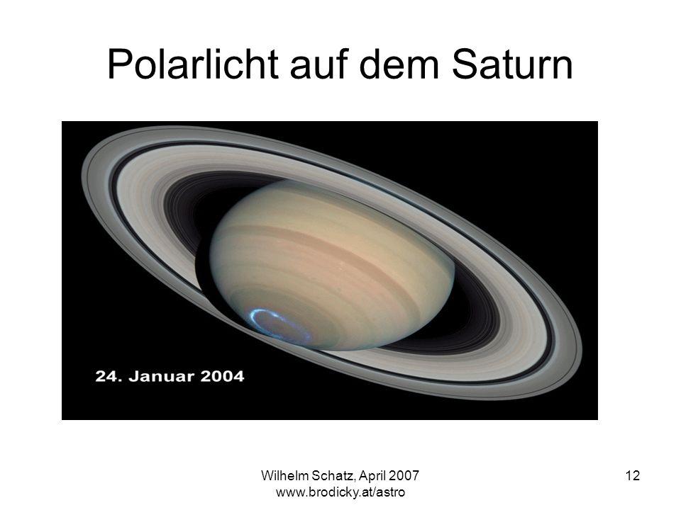 Polarlicht auf dem Saturn