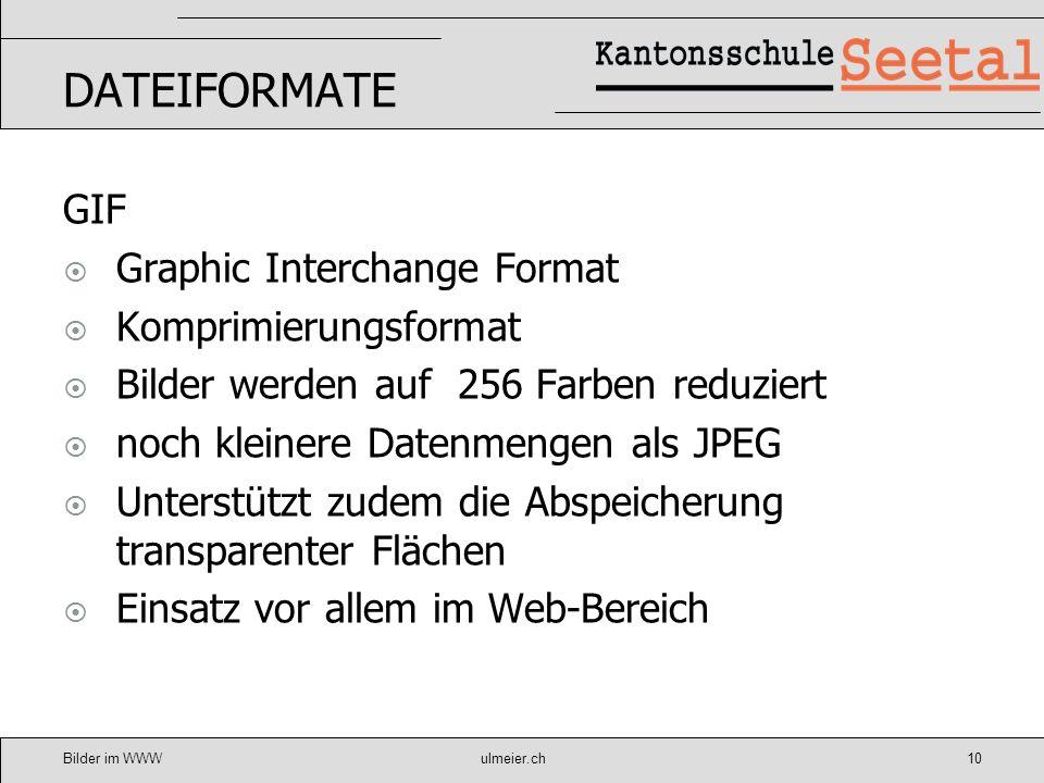 DATEIFORMATE GIF Graphic Interchange Format Komprimierungsformat