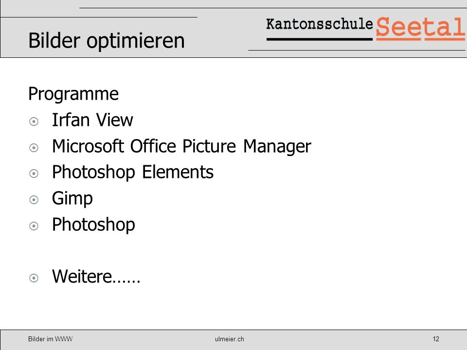 Bilder optimieren Programme Irfan View