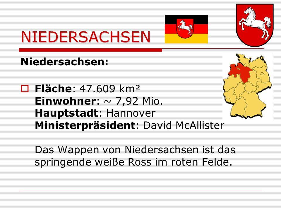 NIEDERSACHSEN Niedersachsen: