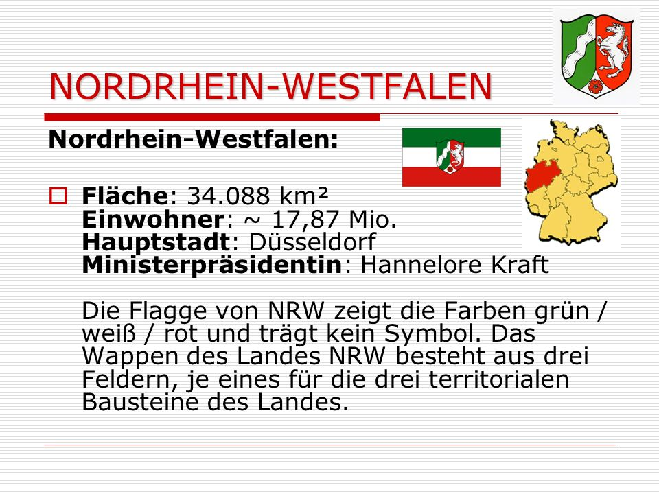 NORDRHEIN-WESTFALEN Nordrhein-Westfalen: